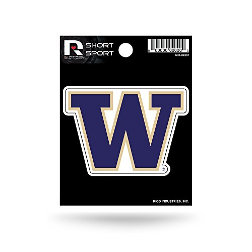 (Rico Industries NCAA Washington Huskies Die Cut Team Logo Short Sport Sticker)