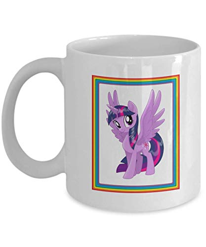 (Twilight Sparkle White My Little Pony Coffee or Tea Mug Great Gift for Brony or Pegasister, Lover of MLP or Equestria Girls, MLP Cup Gift for Adults )