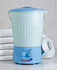 Never go without clean clothes again, with the Wonder Washer portable washing machine that goes anywhere. The mini washing machine gets your clothes clean without a regular washing machine; forget hand washing your laundry or taking trips to ...
