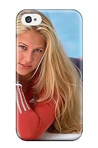 Iphone 4/4s Case Cover - Slim Fit Tpu Protector Shock Absorbent Case (anna Kournikova (11))