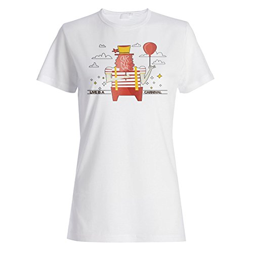 La Vida Es Un Carnaval Divertido camiseta de las mujeres m962f