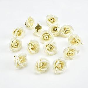 fake flowers heads Silk Rose Artificial Flower Wedding Home Furnishings DIY Wreath Sheets Handicrafts Simulation Fake Flowers 30pcs 4cm 106