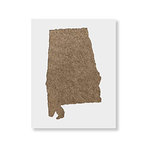 Alabama State Stencil Template - Reusable Stencil with Multiple Sizes Available