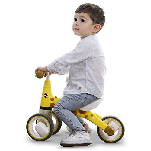 BEKILOLE Baby Balance Bikes Bicycle Children Walker | 12-24-36 Months No Foot Pedal Infant Three Wheels Tricycle First Bike,Giraffe
