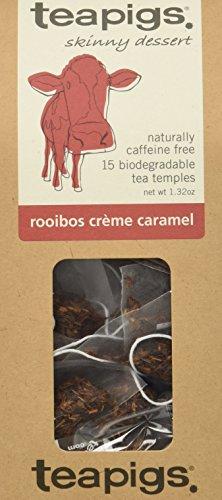 teapigs Rooibos Creme Caramel Tea, 15 Count, 1.32 Oz, (Pack of ()