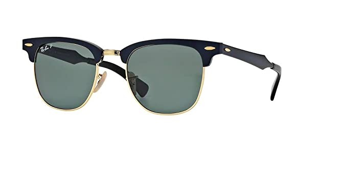 e9c0ab7978481 Ray-Ban RB3507 CLUBMASTER ALUMINUM 136 N5 49M Black Arista Green Polarized