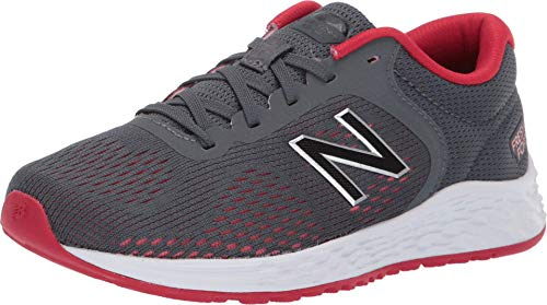 New Balance Boys' Arishi V2 Running Shoe, Gunmetal/Energy red, 11 M US Little Kid