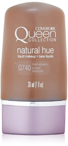 CoverGirl Queen Collection Liquid Makeup Foundation, Sheer Espresso 740, 1.0-Ounce Bottles (Pack of 2)