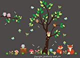Baby Nursery Kids Children's Wall Decals: Forest Nature Woodlands Animals Wildlife Themed 85'' tall X 114'' wide (Inches): Repositionable Removable Reusable Wall Art: Better than vinyl wall decals: Superior Material