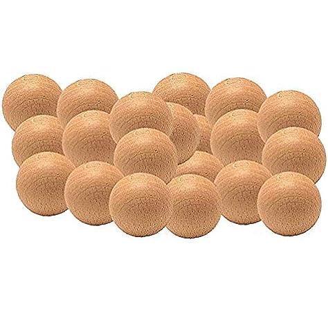 Bola futbolin madera boj 18gramos 33mm: Amazon.es: Juguetes y juegos