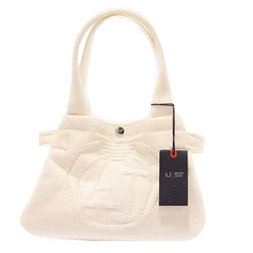 2693S borsa donna ARMANI JEANS tessuto bianco borsa a mano hand bag woman Bianco