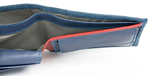 Dark Wallet and with Blue Barbados Leather Strip Tommy Genuine Beige Red HqxfrHTO