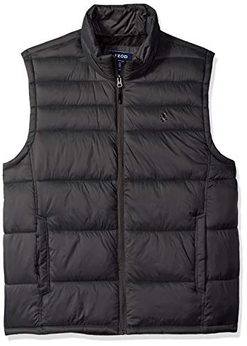 IZOD Men's Advantage Performance Puffer Vest, New Asphault, X-Large -