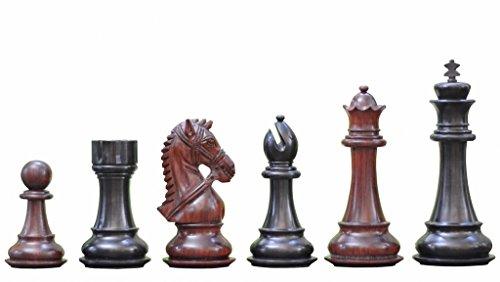 Chessbazaar Triple Weighted Chess Set Ebony Wood & Bud Ro...