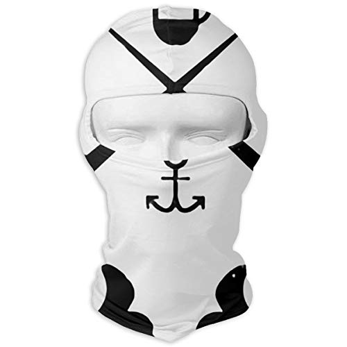 (Windproof Balaclava, Narwhals with Hats Cover Face Mask for Skateboard White)