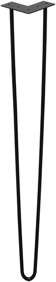 BMOT Pied de Table Meubles Lot de 4 Hairpin Pied Noir 15 cm(6 inches pour Table /à Manger Table Basse Bureau avec 20 Vis 4 Prot/ège Pieds