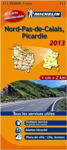 Michelin Tear Resistant Map 511 Nord Pas De Calais