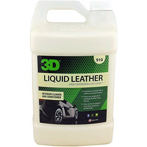 3D Leather, Vinyl & Plastic Conditioner - 1 Gallon | Cleans, Conditions & Protects | Extends the Life of Leather | Environmentally Friendly | Made in USA | All Natural | No Harmful Chemicals