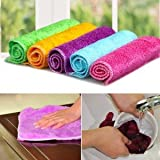 CoolKart Set of 6 Microfibre Towel Cloth for Cleaning Cars, Furniture, Home, 28 cm *28 cm Red Microfiber towel