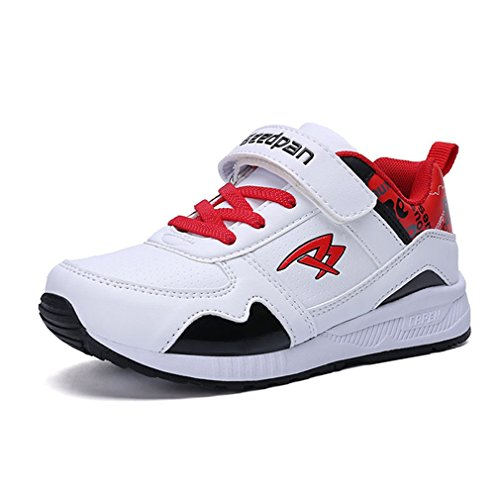 Hoxekle Boys Girls Anti Slip Tennis Sports Running Shoes Athletic Walking Sneakers For Kids Toddler