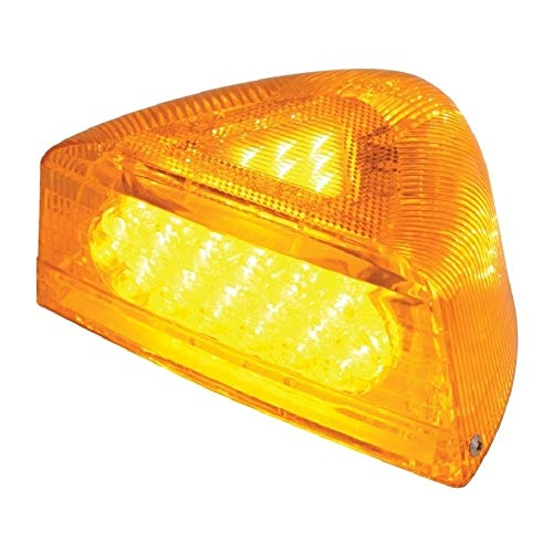 C2W Pair of 37 LED Peterbilt 379 359 Turn Signal Light - Amber LED/Amber Lens RH LH