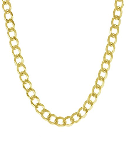 18K Solid Yellow Gold Heavyweight 5.5mm Cuban Curb Link Chain Necklace- Italian Design- 30''-18 Karat by PORI JEWELERS (Image #8)