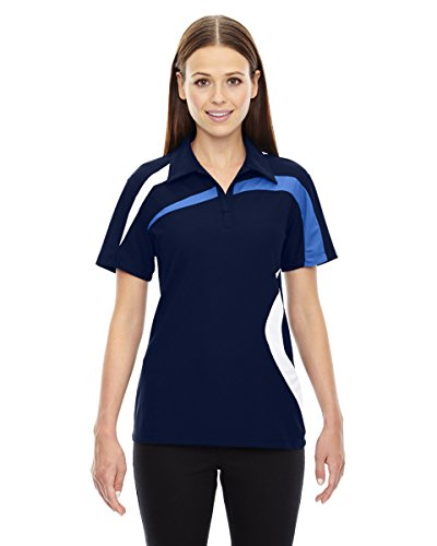 Ladies North End - North End Womens Impact Perf Piqué Colorblock Polo (78645) -NIGHT 846 -M