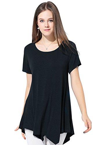 Larace Womens Swing Tunic Tops Loose Fit Comfy Flattering T Shirt