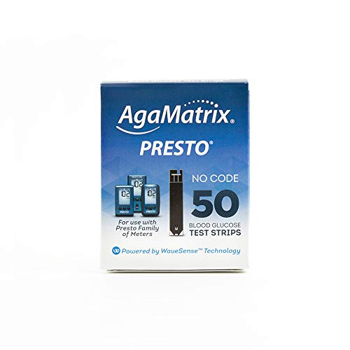 AgaMatrix WaveSense Presto Test Strips, 50 Count Box