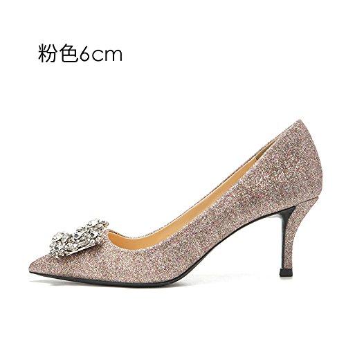 diamant femme 6CM chaussures mariage Escarpins Pink HUAIHAIZ shoes hauts eau female chaussures heeled high de soirée Talons mariée de Chaussures de qBR5vxgw
