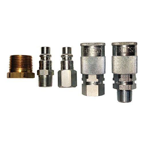 (Milton S-223 H Style Coupler and Plug Reducer Kit - 5 Piece)