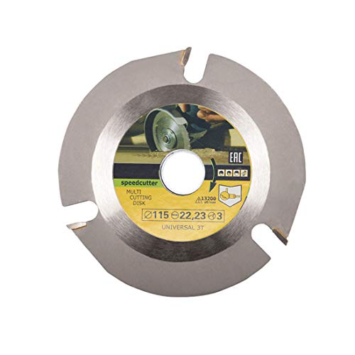 Universal Wood Cutting Shaping Disc 3 teeth Anti-Kickback Multipurpose Carving Wheel Blade for Angle Grinder Stump Log Grinder Speedcutter,4.5inch,7/8