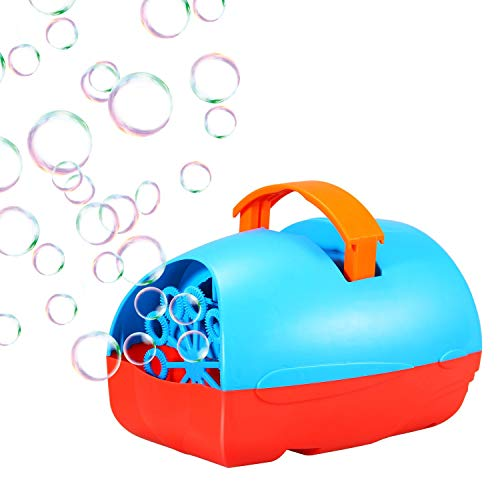 Theefun Portable Automatic Bubble Machine for Kids, USB or Batteries Powered Bubble Blower for Outdoor/Indoor Use - Super-Light Bubble Maker for Toddlers ()