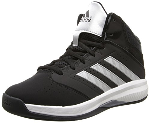 adidas Performance Isolation 2 Wide K Basketball Shoe (Little Kid/Big Kid),Core Black/Metallic/Silver/Running White,1 W US Little Kid