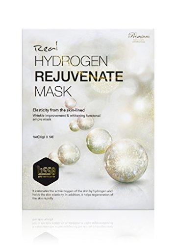 Lisse Real Hydrogen Rejuvenate Facial Antioxidant Moisturizing Essence Mask 30g X 5 Treatment