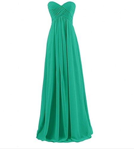 Di Da Chiffon Innamorato Vestito Ak Delle Bellezza Verde Lungo Promenade Donne Sera Rqpc6Xxwf