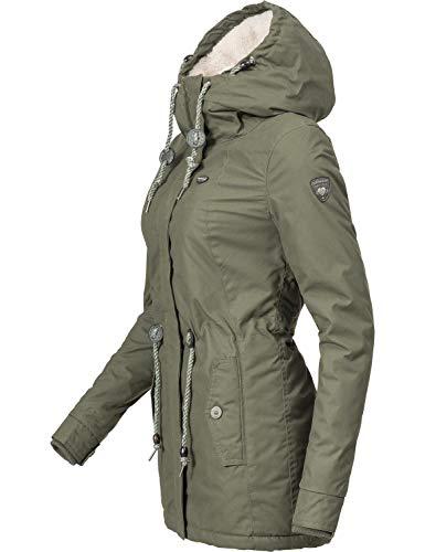 Dame Monadis D'hiver Avec Couleurs xxl Xs Ragwear 8 Veste Capuche Vert Pour x4aZ6f