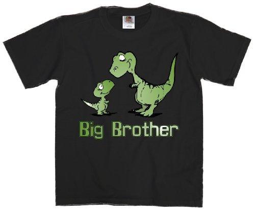 Youth T-Shirt: Big Brother Dinosaur Black Small (8)