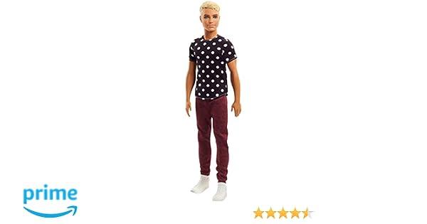 Amazon.es: Barbie Fashionista, Muñeco Ken rubio, camiseta de lunares (Mattel FJF72): Juguetes y juegos