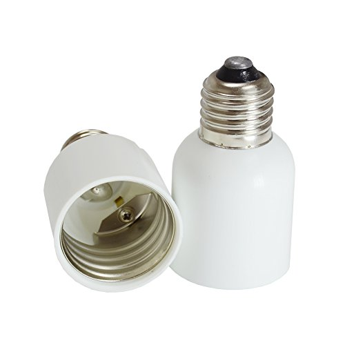 Dephen E26/E27 to E39/E40 Light Socket Adapter, Bulb Base Adapter Converter,Medium Base E26/E27 to Mogul Base E39/E40, Light Bulb Socket, 2 Pack