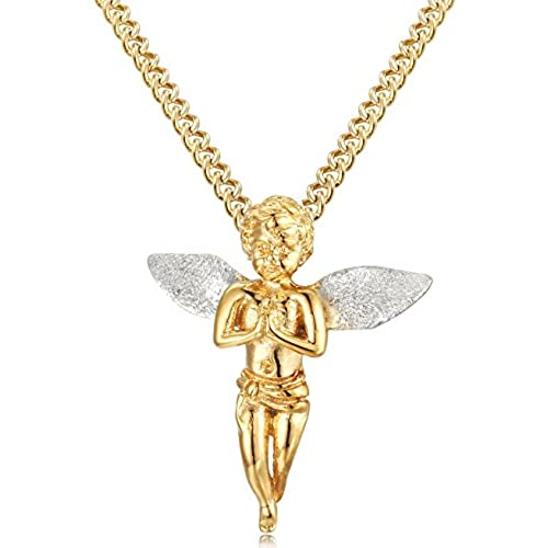 Angel pendants chains amazon jstyle jewelry stainless steel mens womens angel wings necklace pendant chain holy 22 inch mozeypictures Choice Image