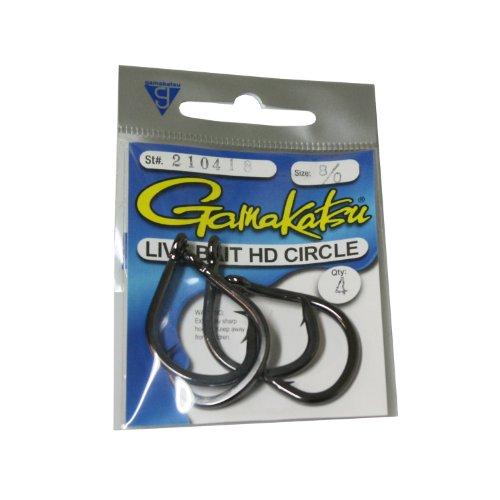 Gamakatsu Circle Bait Hook-3 Per Pack (Black, - Gamakatsu Hooks Circle