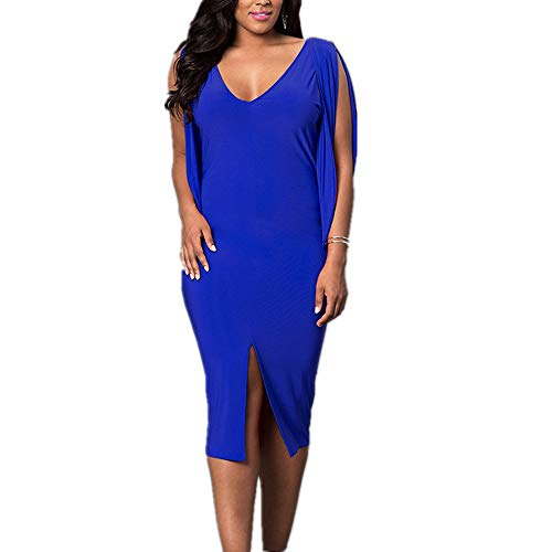 Color XL One Plus Color Step Femme Grande V Jupe Robe Nhatycir Color Split Sapphire Taille Deep Size Sapphire RqW4xOn0Zw