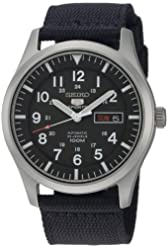 Seiko Men's SNZG15 Seiko 5 Automatic Stainless Steel Watch with Nylon Strap