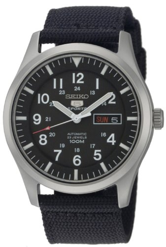 (Seiko Men's SNZG15 Seiko 5 Automatic Stainless Steel Watch with Nylon Strap)
