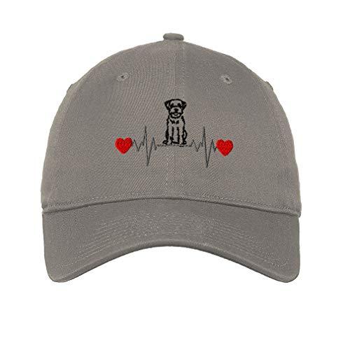 (Soft Baseball Cap Miniature Schnauzer Lifeline Embroidery Cotton Dad Hats for Men & Women Flat Solid Buckle Light Grey One)