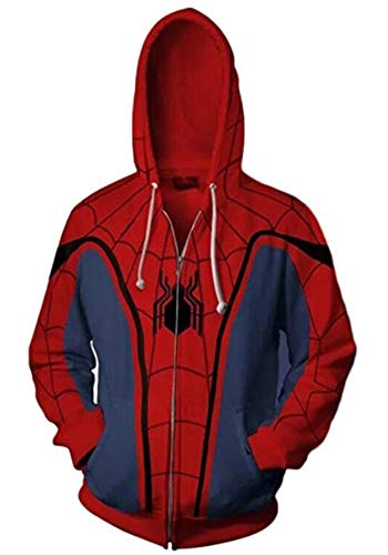 (GoldBucket Unisex Fashion Hoodies (Spider Man,)