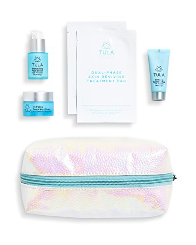 - TULA Probiotic Skin Care Party Prep Kit - Travel-friendly Exfoliating Mask, Peel Pads, Hydrating Day & Night Cream, & Illuminating Serum for Glowing and Youthful Skin