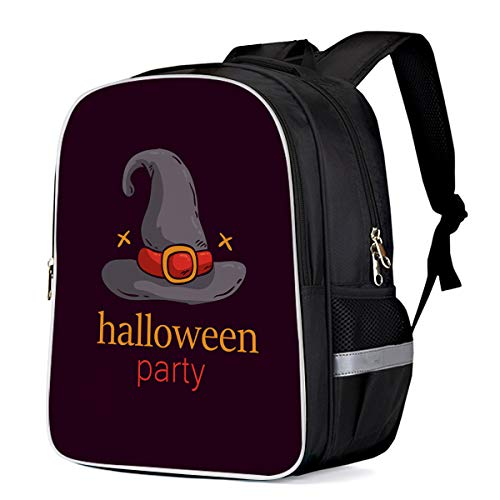 Fashion Elementary Student School Bags- Halloween Horror Magic Hat Trick or Treat Durable School Backpacks Outdoor Daypack Travel Packback for Kids Boys Girls ()
