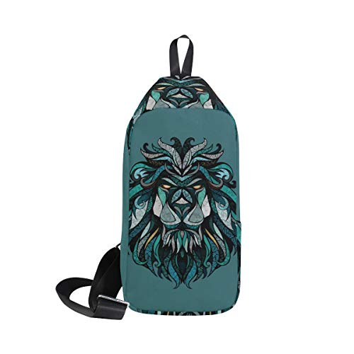 Bennigiry Women Animal Backpack Bags One amp; Lion's Chest For Sling Men Crossbody Shoulder Head Bag wUwr6
